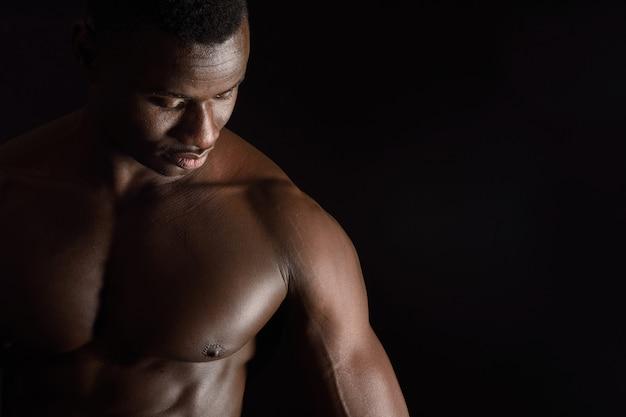 Porträt eines nackten mannes
