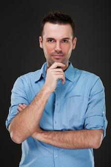 Porträt eines stilvollen mannes