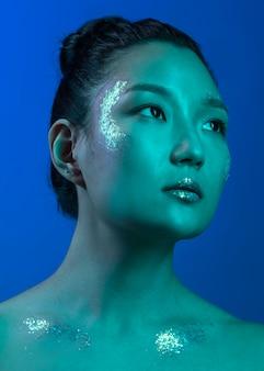 Porträt junge frau mit make-up