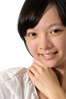 Porträt junge schöne asiatische frau