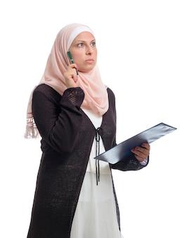 Porträt muslimische frau