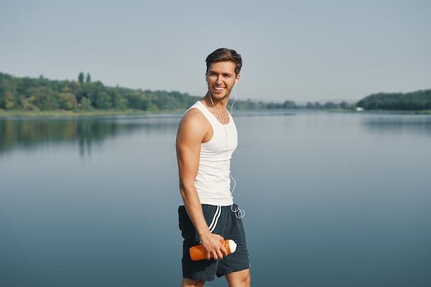 Porträt sportlicher mann
