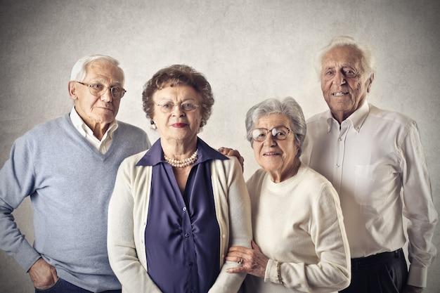 Porträt von älteren leuten