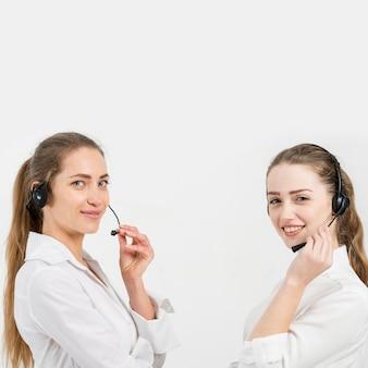 Porträt von call-center-agenten