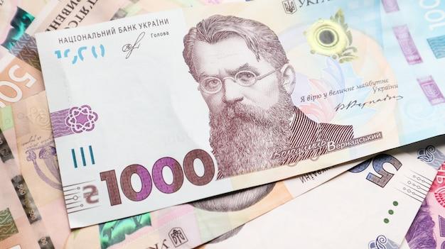 Porträt von vladimir ivanovich vernadsky für 1000 griwna auf einer ukrainischen banknote.