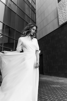 Portrait der braut schönes hochzeitskleid hochwertiges foto