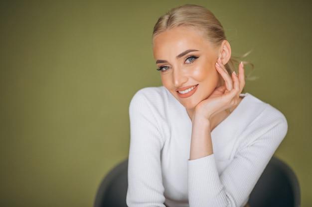Portrait der frauenhautpflege