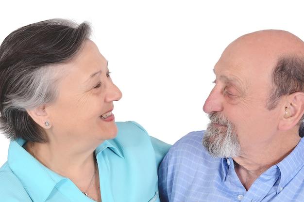 Portrait der glücklichen älteren paare