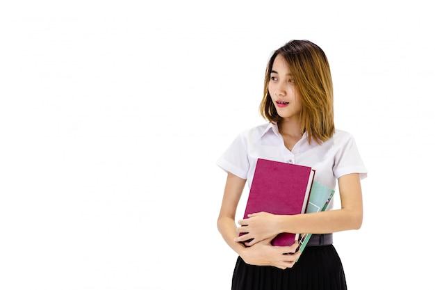 Portrait der universitätsuniform des erwachsenen studenten