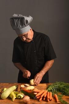 Portrait des älteren chefs