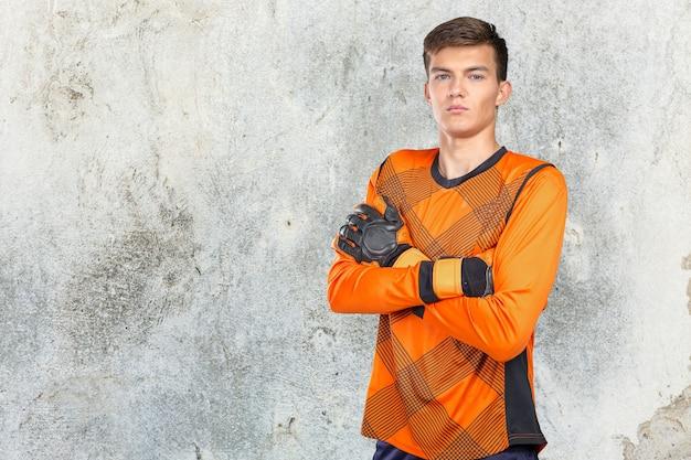 Portrait des berufsfußballspielers