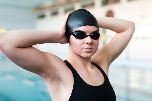 Portrait des berufsschwimmers