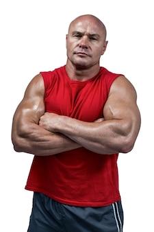Portrait des überzeugten bodybuilders