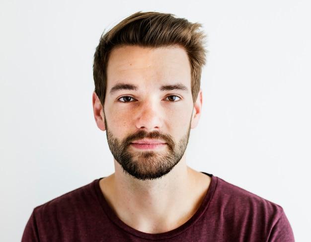 Portrait des weißen mannes getrennt