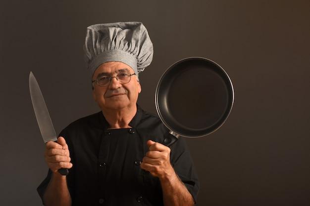 Portrait eines älteren chefs