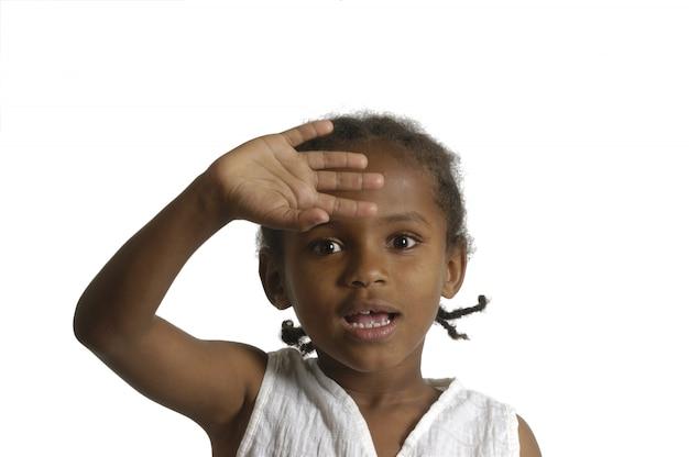 Portrait eines afrikanischen jungen mädchens