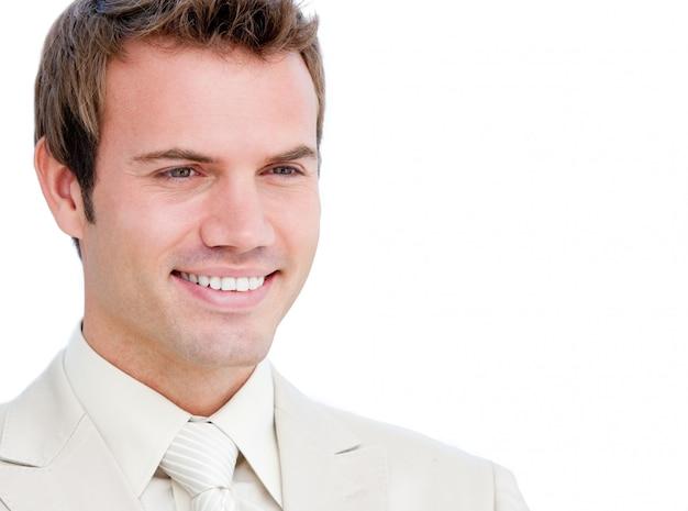 Portrait eines stattlichen überzeugten mannes