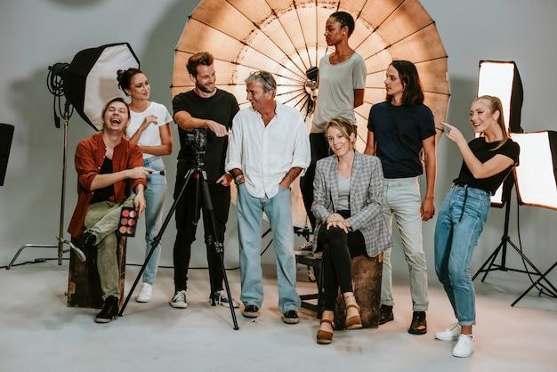 Portrait eines triebproduktions-teams