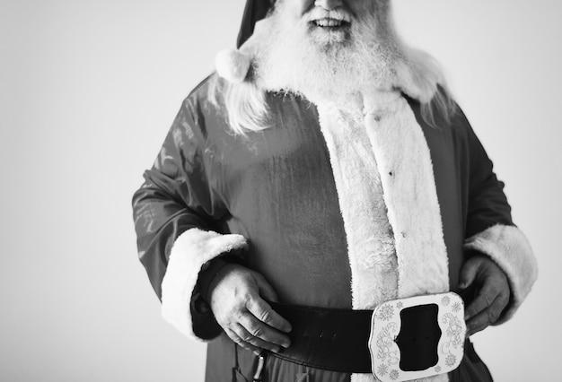 Portrait von einem fröhlichen weihnachtsmann
