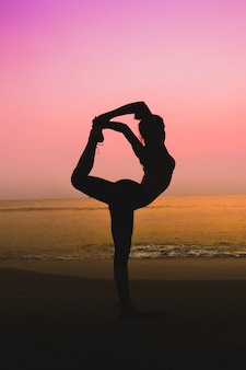 Pose sonnenaufgang harmonie sand gesundheit