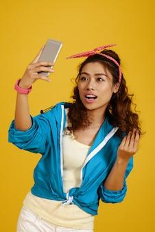 Posieren für selfie