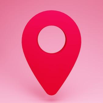 Position der roten pins für navigation und richtung