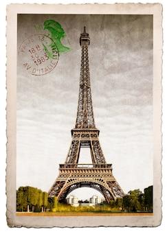 Postkarte des eiffelturms