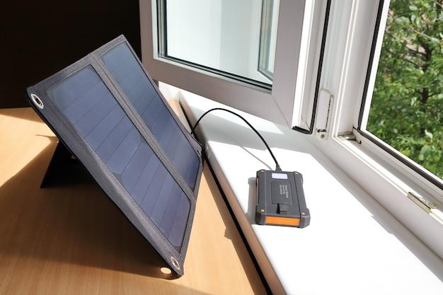 Powerbank lädt mit solarenergie