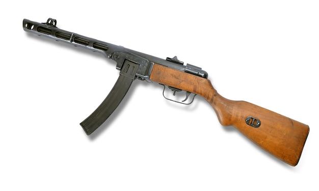 Ppsh 41 maschinengewehr isoliert