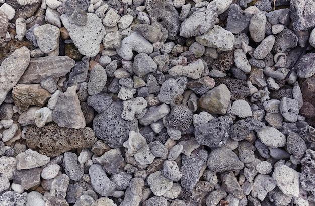 Prächtige, sehr hochauflösende textur einiger poröser tausendjähriger gesteine und mineralien, die am strand von xpu-ha in mexiko vorhanden sind.