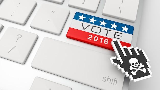 Präsidentschaftswahlen in den vereinigten staaten, 2016. 3d-rendering