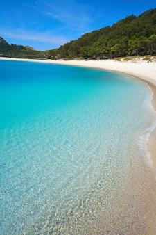 Praia de rodas strand in islas cies insel von vigo