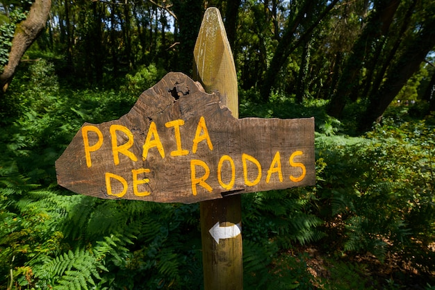 Praia de rodas-strand unterzeichnen herein islas cies-insel vigo