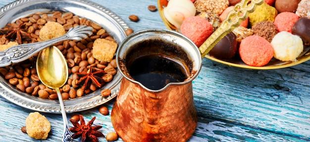 Praline und kaffee