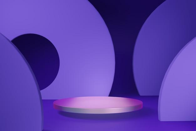 Premium-minimal-podium-studio-hintergrund für die produktpräsentation. abstrakte hintergrundszene 3d übertragen für produktwerbung.