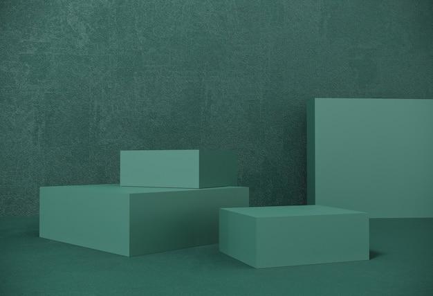 Premium podium, stand auf pastellpapier hintergrund für ausstellungen, präsentation von produkten. abstrakte zusammensetzung des geometrischen objekts, kästen.