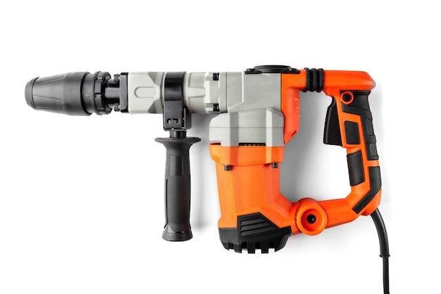 Presslufthammer oder perforator isoliert auf weiß.