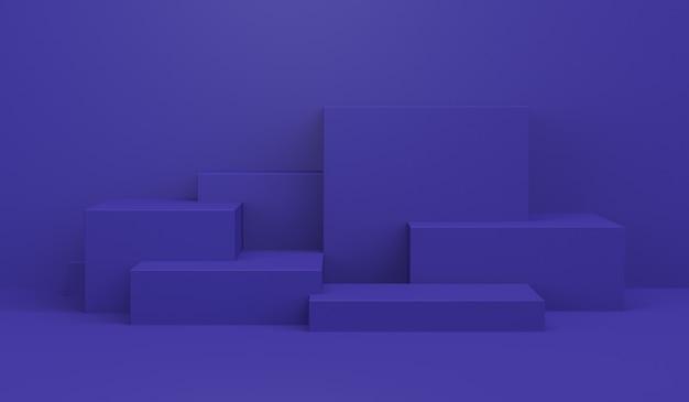 Primitive geometrische figuren, 3d render.