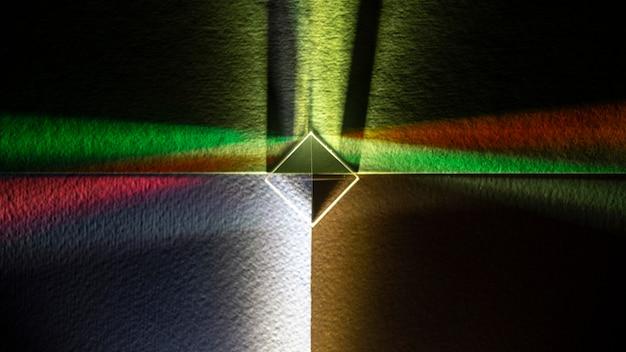 Prismenspektrum licht und regenbogenbrechung