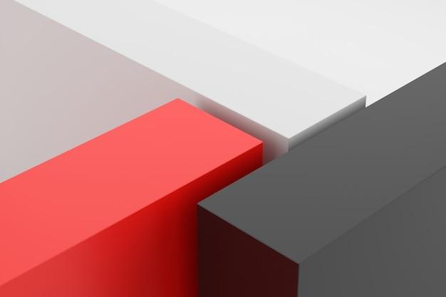 Produktanzeigedesign. 3d-rendering.