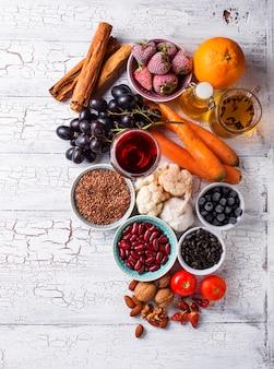 Produkte zur krebsbekämpfung. nahrung für gesundes
