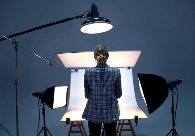 Produktfotografie-shooting von schuhen