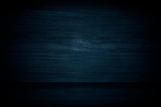 Produkthintergrund aus dunkelblauer holzwand