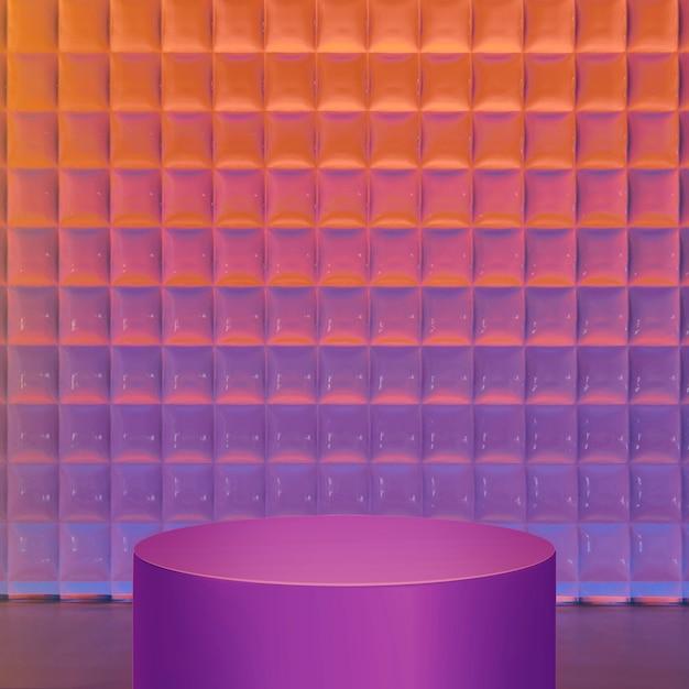 Produkthintergrund mit farbverlauf, neonvioletter stand