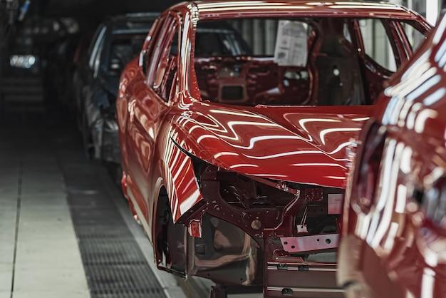 Produktionslinie des automobilwerks