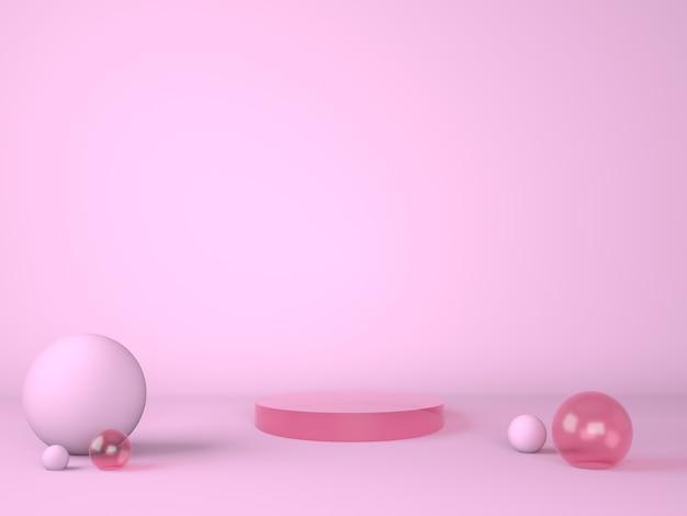 Produktpodest auf pastellhintergrund 3d