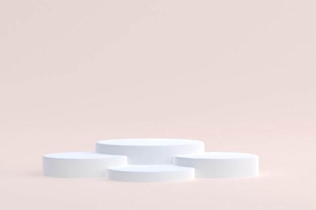 Produktpodest minimal für die präsentation kosmetischer produkte