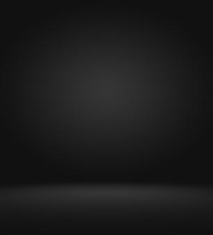 Produktschaufensterscheinwerfer auf schwarzem verlaufshintergrund.