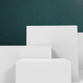 Produktschaukasten des hintergrund-3d