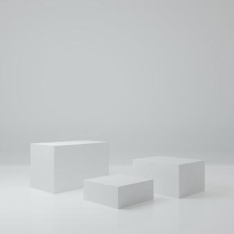Produktständer im weißen raum studioszene für produkt minimales design3d-rendering